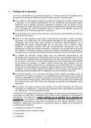 1. Politique de la Jeunesse - Ministère de la Famille et de l'Intégration