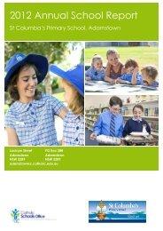 2012 Annual Report for St Columba's Primary School - Catholic ...