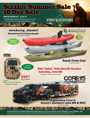 Sizzlin' Summer Sale 10 Day Sale - Kinsey's Outdoors