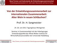 Prof. Dr. Hartmut Sangmeister, Universität Heidelberg