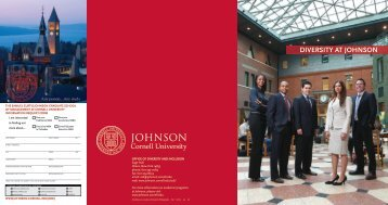 diversity at johnson - Johnson Graduate School of Management ...