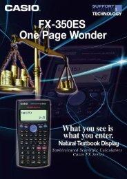 Casio FX-350ES One-Page Wonder - Marco Group