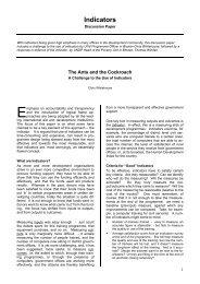 Indicators - Monitoring and Evaluation NEWS