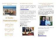 Einladung_ A Tavola - La Piazza Culinaria