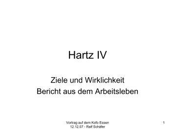 Hartz IV - Zeichen setzen!