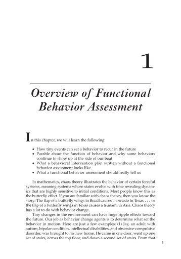Functional Behavior Assessment Worksheet  Come Over To