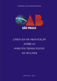 cartilha de orientação sobre os direitos trabalhistas da ... - OAB-SP