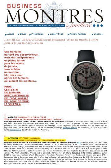 LE SNIPER DU VENDREDI -  Geneva Time Exhibition