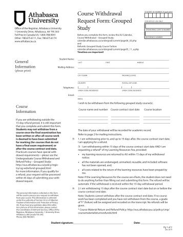 Active Military Duty Request to Withdraw Form - Registrar - The ...