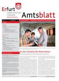 Amtsblatt Nr. 11 vom 19. Mai 2012 der  Landeshauptstadt Erfurt