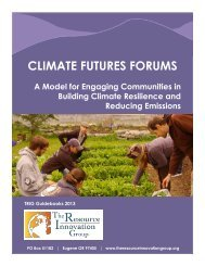 Climate Futures Forums - The Resource Innovation Group