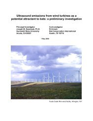 Ultrasound emissions from wind turbines as a potential attractant to ...