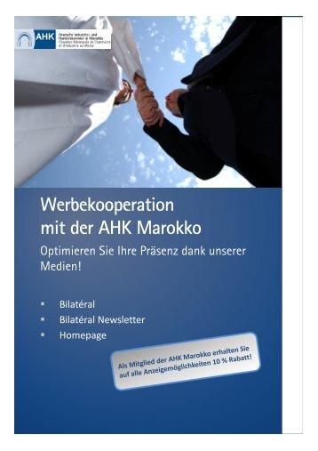 Werbekooperation mit der AHK Marokko