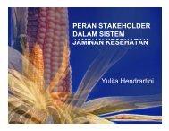 peran stakeholder dalam sistem jaminan kesehatan - KMPK
