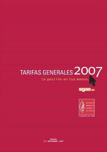 TARIFAS GENERALES2007 - Público