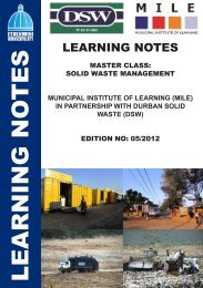 Solid Waste Management Master Class- Learning Notes - MILE