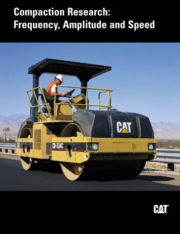 Compaction Research: Frequency, Amplitude and Speed QEDQ9874