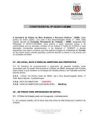 convite nº 02/2013 - Secretaria do Meio Ambiente e Recursos Hídricos