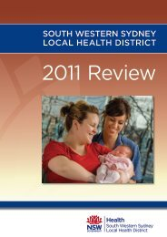2011 Review - South Western Sydney Local Health District - Home