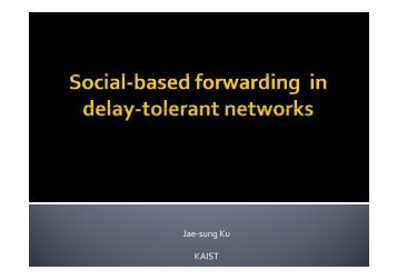 Resource allocation of social-based forwarding schemes in delay ...