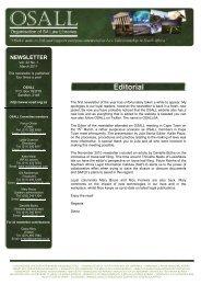 Newsletter Feb/Mar 2011 Vol 22 No 1 - Organisation of South ...