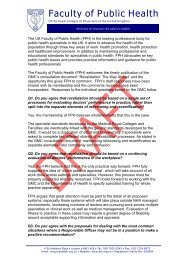 FPH response to GMC consultation - UK Faculty of Public Health