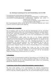 FuFA AbtVersamml 2008 Protokoll - Eintracht Frankfurt eV
