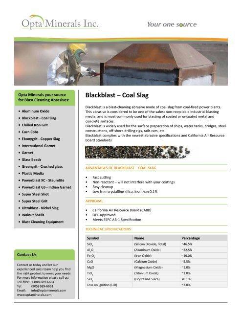 Blackblast - Coal Slag - Opta Minerals Inc