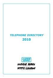 TELEPHONE DIRECTORY - Ntpc