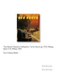 Neo Rauch's Purposive Ambiguities - Robert Hobbs