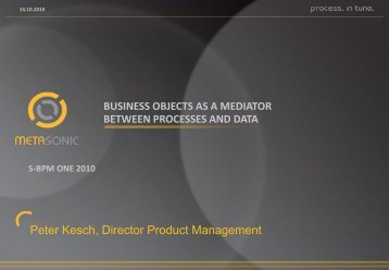 Business Objects as a Mediator between Processes and Data