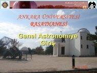 Genel Astronomiye Giriş - Ankara Üniversitesi Gözlemevi