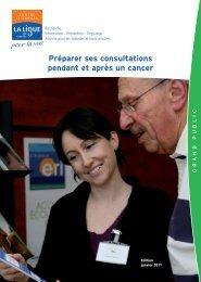 Préparer ses consultations pendant et après un cancer (janvier 2011)