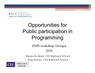 Opportunities for Public participation in ProgrammiProgramming
