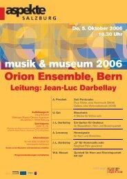 Do, 5. Oktober 2006 18.30 Uhr - Darbellay, Jean-Luc