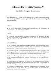 Sokrates-Universitäts-Verein eV Geschäftsordnung des Konsistoriums
