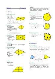 Formelsammlung Geometrie 8 - Evangelisches Gymnasium ...