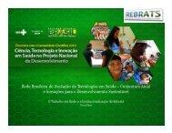 Rede Brasileira de Avaliação de Tecnologias em Saúde ...