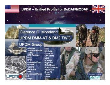 UPDM Update - Chief Information Officer