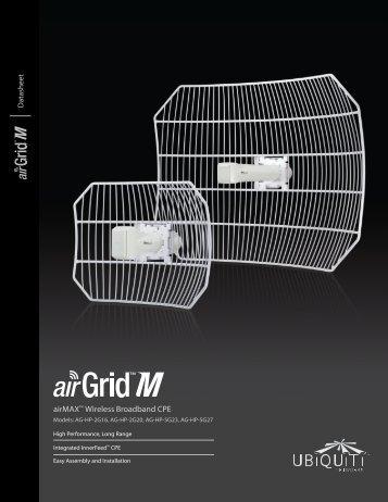 airGrid™M HP Datasheet - Ubiquiti Networks
