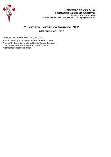 2ª Jornada Torneo de Invierno 2011 Atletismo en Pista - Federación ...