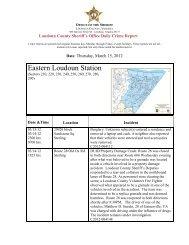 Daily Crime Report - Loudoun County