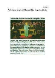 Polizeichor singt mit Musical-Star Angelika Milster