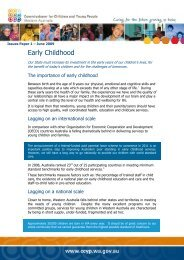 Early Childhood - The Western Australian Government