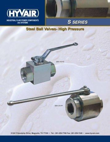 Steel Ball Valves-High Pressure - Hyvair
