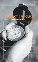 Code of conduct - Aker Solutions