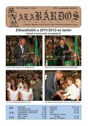 ALABARDOS ÚJSÁG 2011 SZEPTEMBER - Bárdos Lajos Általános ...