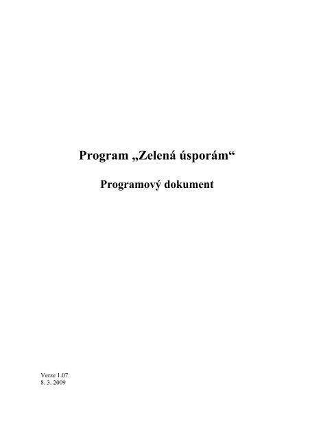 Příloha 4 - Programový dokument - Státní fond životního prostředí