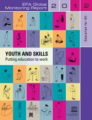 Youth and skills: putting education to work, EFA global monitoring ...