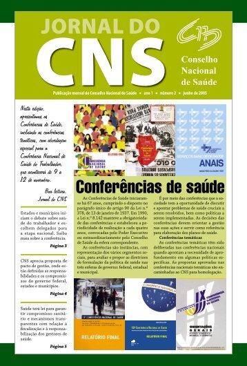 05_0569_M_jornal do CNS_n_2.indd - Conselho Nacional de Saúde